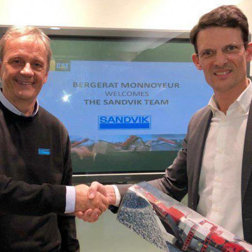 法国Sandvik移动破碎机和筛分设备的新经销商