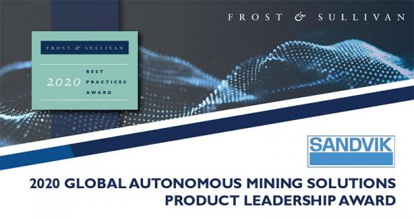 山特®矿和Op®荣获2020年全球自主采矿解决方案产品领导奖