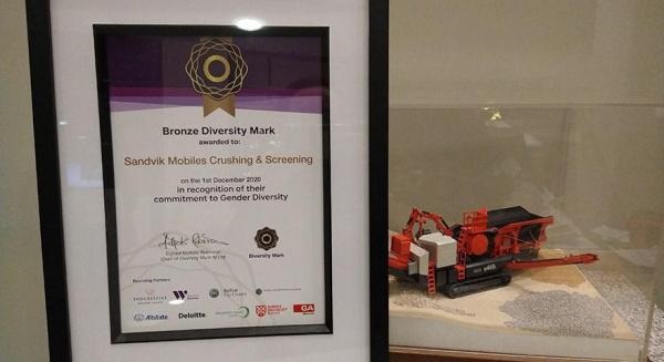 山特维克移动公司荣获工作场所多元化和包容性铜多样性标志