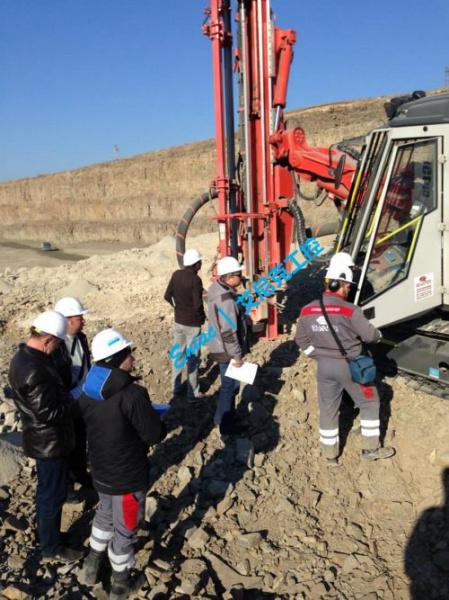 山特维克DP1500i钻机试验现场