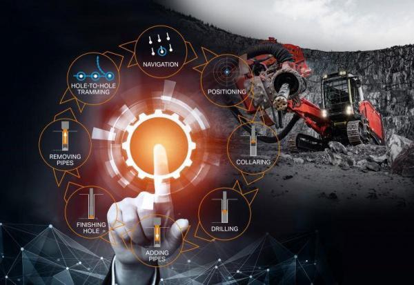 山特维克推出自动矿®表面钻探自动循环,实现完全自主的表面钻探车队操作