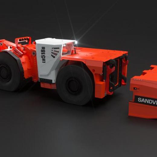 极致于功率和性能:山特维克提供全球首款 18 吨电池装载机 LH518B