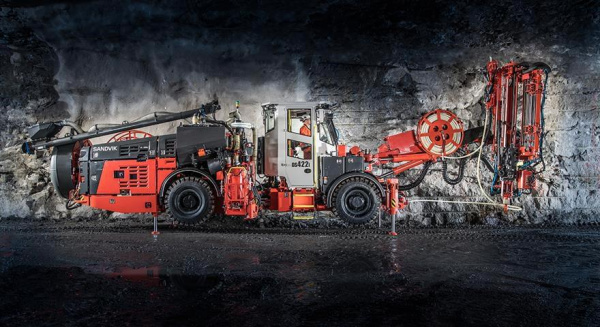智能 Sandvik DS422i 电缆螺栓提高了生产率、安全性和过程控制