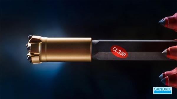 山特维克推出全新设计的Alpha 330(α330)钻具系统