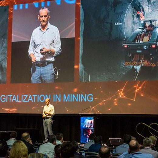 在山特维克展会上展示的采矿数字化